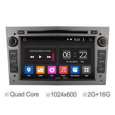 Ownice DVD GPS de navegación estéreo del coche 2G RAM de cuatro núcleos androide 4.4 HD 1024x600 de Opel Astra Vectra Zafira Antara Corsa