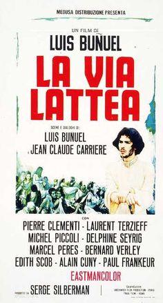 La via lattea 1969 di Luis Bunuel con Michel Piccoli, Pierre Clement e Laurent Terzieff,