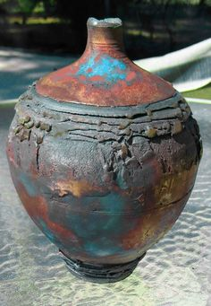 M.Wein Dry Raku copper matt