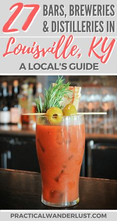 Louisville, Kentucky is a town known for a drink: bourbon. But there's more to drink in Louisville! The best distilleries, breweries & bars in Louisville. Whisky, Bourbon Whiskey, Whiskey Trail, Distillery, Brewery, Bourbon Tour, Louisville Kentucky, Bourbon Kentucky, Foodie Travel