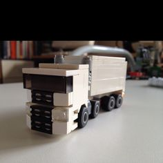 A new mini semi truck based on a real truck, from my mini vehicle collection.