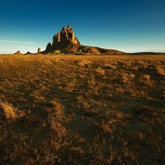 """ShipRock"" New Mexico - the high desert plain of the Navajo Nation with @cebimagery"