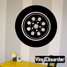 Tire Rim Wall Decal - Vinyl Decal - Car Decal - DC032