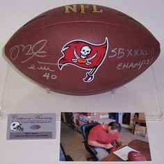 Mike Alstott Autographed Hand Signed Tampa Bay Buccaneers Logo Football - PSA/DNA