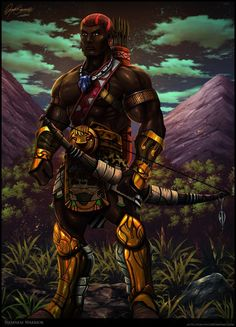 """Sudanese Warrior"", by Serathus."