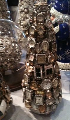"Christmas Antique Watch Tree...now that says ""it's Christmas time like nothing I've ever seen."" How fun."