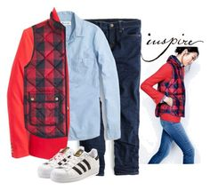 """""""Inspire"""" by villasba ❤ liked on Polyvore featuring J.Crew, Madewell and adidas Originals"""