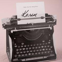 Vintage Inspired Typewriter Favor Box Kit - Bridal Everything