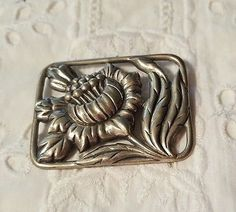 Vintage Thistle Flower Pin Brooch Square Aluminum? Thistle Flower, Vintage Pins, Brooch Pin, Design Ideas, Flowers, Brooch, Royal Icing Flowers, Flower, Florals