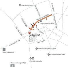 Ubicación Berlin Wall Memoriallos dos muros y ls torreta