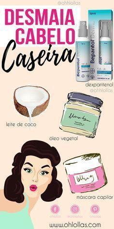 Hidratação desmaia cabelo caseiro com bepantol, leite de coco e óleo vegetal (óleo de rícino, azeite de oliva, óleo de coco). @ohlollas Hidratação caseira para cabelos cacheados, ressecados, com frizz.