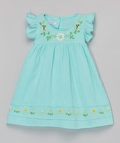 Look at this Mint Margarita Daisy Embroidered Dress - Infant & Toddler on #zulily today!