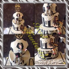 Juventus birthday cake with Zebra mascot