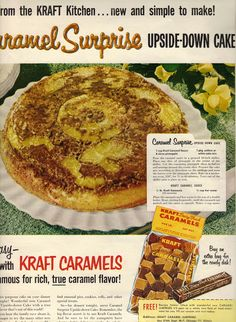 little glimmers: Vintage Recipe Friday: Caramel Surprise Upside-Down Cake