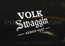 VOLKSWAGEN SWAG Car Decal Sticker Euro VAG VW Golf Polo Beetle Bug Camper DUB