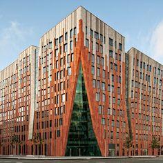 Beautiful modern art deco building - Sumatrakontor | Architect: Erick van Egeraat
