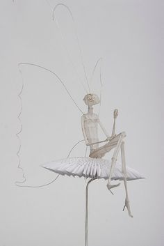 I love the beyond the beyond.......  Wire and Paper Sculpture: Psyche