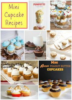 Mini Cupcakes Recipes - perfect on a party dessert table & a great dessert for little fingers at the kids table!