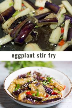 eggplant stir fry. vegan eggplant stir fry. thai eggplant recipe #friedeggplantrecipes