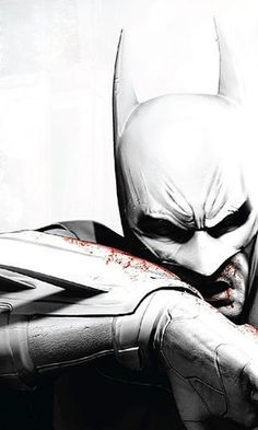 Despite Batman being a comic book hero, this art seems to appear very realistic and gritty. The black and white with red reminds me of the film Sin City and creates a gritty, old and classic kind of mood. I feel slightly concerned for Batman but also scared as the dark spaces for his eyes alienate his character more than ever done before and it makes his actions unpredictable. While detail is not enormous, enough is done to create a memorable and effective art piece.