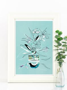 Print illustration sweet spring plants pastel colors #lebocaldemag #homedecor