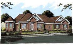 European House Plan 68551 Elevation
