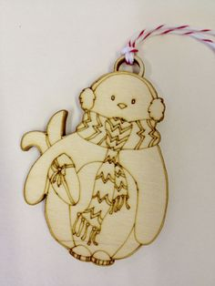 Penguin Lasercut Christmas Decoration