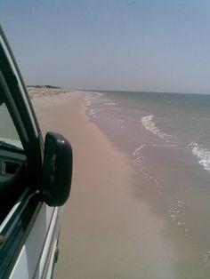 Beach driving on Mauritania