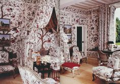 Hubert de Givenchy, his French manor, Le Jonchet.