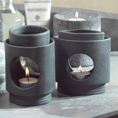5 in. Grey Ceramic Oil Burner