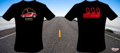 smart roadster-coupé T-Shirt. Two sides, one color on the back (red) and three colors on the front, with the BRABUS speedometer.  #Tshirts #SmartRoadster #roadster #cars #BRABUS