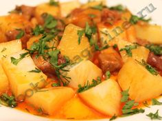 Картофель тушеный с мясом
