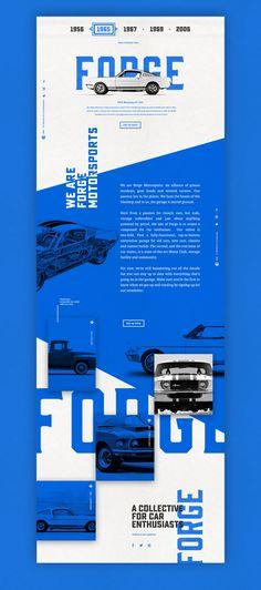 Forge Final Underscore (Blue) – Ui design concept by Nick Franchi. Forge Final Underscore (Blue) – Ui design concept by Nick Franchi. Pop Design, Design Lab, Cool Web Design, Layout Design, Web Design Mobile, Web Mobile, Web Ui Design, Web Design Company, Web Layout