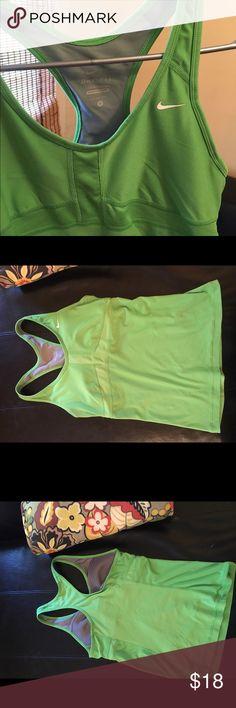 Nike Dri-Fit /Tank Top Lime green Nike tank top Medium..Dri-Fit Nike Tops Tank Tops