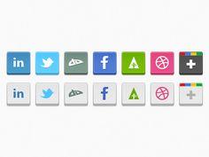 Iconos redes sociales con efecto relieve
