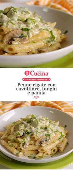 Penne rigate con cavolfiore, funghi e panna della nostra utente Giovanna. Unisciti alla nostra Community ed invia le tue ricette!