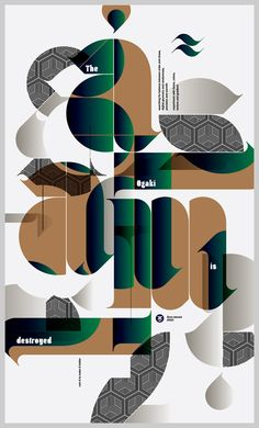 Typography poster #graphic #typography #fonts #poster    ---    Not enough love in the world for this concept.