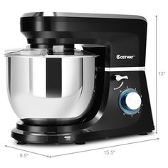 This is stylish food stand mixer which is great for your kitchen. It comes with dough hook, beater, whisk and Qt stainless steel bowl. Powerful 660 watt motor and variable speeds guarantee freshness and smoothness of food, an Electric Foods, Stainless Steel Bowl, Stand Mixer, Kitchen Aid Mixer, Drip Coffee Maker, Tilt, Coffee Making Machine, Stand Mixers