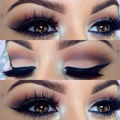 Dramatic Eyes- Make-Up- Party Time- Night Time- Weddings… Gorgeous brown eyes. Dramatic Eyes- Make-Up- Party Time- Night Time- Weddings… Cute Makeup, Gorgeous Makeup, Pretty Makeup, Gorgeous Eyes, Perfect Makeup, Perfect Eyes, Makeup Style, Purple Makeup, Amazing Makeup