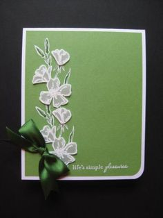 [url=fromthetoolshed.blogspot.com/2013/03/monochromatic-thank-you.html][color=green]HERE[/color][/url] is the tutorial Angela published in her blog that inspired me.  I kept the same color and layout, changiing the flowers, sentiment, and ribbon.  Thanks for directing me here!!