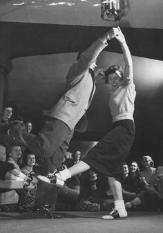 Guys, I wish people still had dance halls where you could just go and dance the jitterbug with your homies before going to the local drug store to get a bottle of soda pop. Also, I wish people still dressed like this.