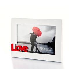 Képkeret piros LOVE felírattal