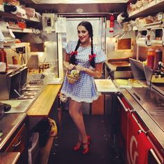 """Photo by @alianafrancesca. Caption: """"Dorothy got a little lost on her way back from Oz to Kansas and ended up on the Louies Lunch truck with Toto!"""""""