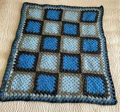Bobble Stitch Crochet Blanket, Crochet Square Blanket, Granny Square Crochet Pattern, Crochet Blanket Patterns, Baby Blanket Crochet, Form Crochet, Crochet Flower, Crochet Blankets, Baby Afghan Patterns