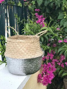 Your place to buy and sell all things handmade Seagrass Storage Baskets, Belly Basket, Blanket Storage, Basket Planters, Nursery Room Decor, Outdoor Plants, Toy Storage, Plant Holders, Fair Trade