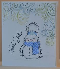 Christmas Cards 2018, Stamped Christmas Cards, Homemade Christmas Cards, Homemade Cards, Penny Black Cards, Penny Black Stamps, Scrapbooking, Scrapbook Cards, Snowman Cards