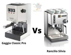 Gaggia Classic Pro vs Rancilio Silvia - Get the Best One! Jura Coffee Machine, Cappuccino Machine, Maker Labs, Commercial Espresso Machine, Coffee Pods, Stainless Steel Material, Latte Art, Better One, Wood Cutting
