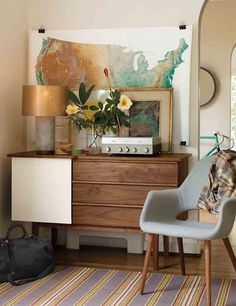 mid-century modern + map = yes.