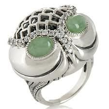 green eyes silver owl ring