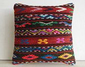asian kilim cushion cover sofa cushion throw pillowcase ethnic pillow couch aztec pillow case decorative throw large native couch cushion